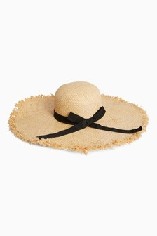 Frayed Edge Floppy Hat