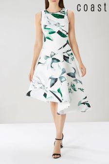 Coast White Lattice Print Scuba Dress