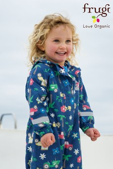 Frugi Organic Tractor Print All-In-One Suit
