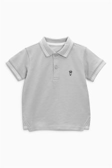 Short Sleeve Giraffe Embroidered Polo (3mths-6yrs)