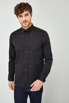 Stretch Long Sleeve Smart Shirt