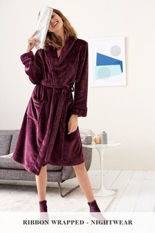 Robe And Socks With Ribbon Wrapping