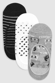 Cat Pattern Footsies Three Pack