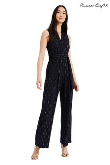 Phase Eight Blue Tia Foil Print Jumpsuit