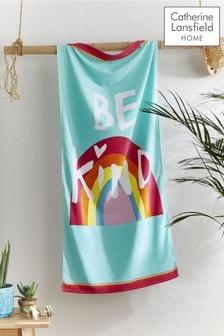 Be A Rainbow Beach Towel by Catherine Lansfield