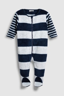 Stripe Fleece Sleepsuit (0mths-3yrs)
