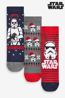 3 Pack Christmas Star Wars™ Stormtrooper Socks (Older)