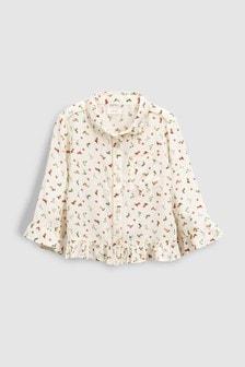 Рубашка с принтом обуви (3-16 лет)