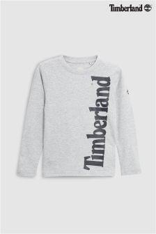 Timberland® Grey Side Logo Long Sleeve Tee