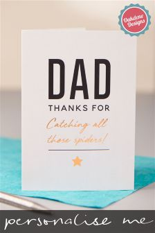 Personalised Thank You Dad Fathers Day Card By Oakdene Designs