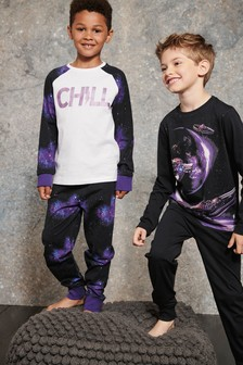 Galaxy Print Pyjamas Two Pack (3-16yrs)