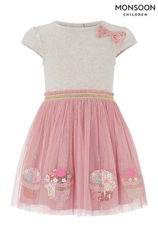 Monsoon Pink Baby Disco Cupcake Dress