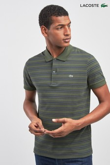 Lacoste® Baobab And Meridian Blue Stripe Polo