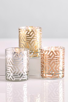 Set of 3 Metallics Candles