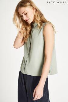 Jack Wills Sage Lindon Sleeveless Shirt