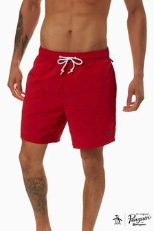 Original Penguin® Red Quick Dry Daddy Swim Trunks