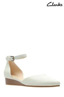 Clarks White Sense Eva Shoe