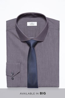 Cotton Stretch Shirt With Tie Pack