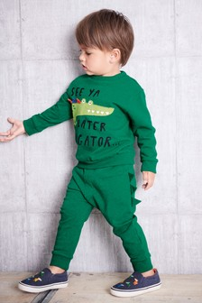 Ensemble sweat-shirt Later Alligator avec col ras du cou et pantalon de jogging (3 mois - 6 ans)