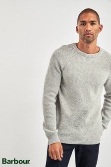 Barbour® Light Grey Manor Crew Sweater