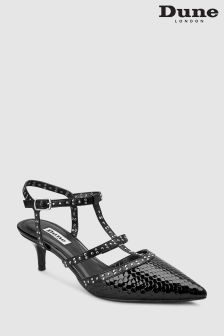 Dune Black Cristyn Mini Stud Strappy Kitten Heel