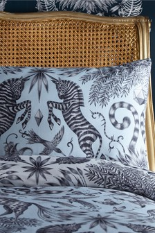 Set of 2 Emma Shipley Kruger Zebra Cotton Pillowcases