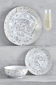 12 Piece Speckle Dinner Set
