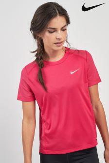 Nike Miler Pink Running Tee