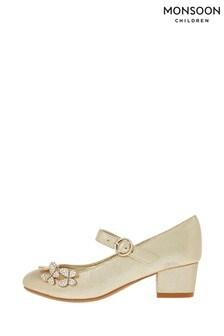 Monsoon Gold Maria Butterfly Shoe
