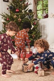 3 Pack Dinosaur Print Pyjamas (9mths-8yrs)