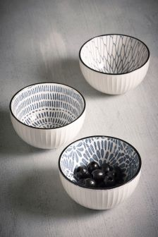 Set of 3 Floral Dip Bowls