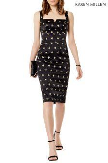 Karen Millen Sprig Satin Dress