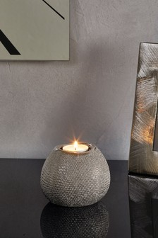 Diamanté Effect Tealight Holder