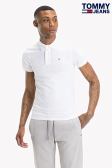 Tommy Jeans Original White Pique Polo
