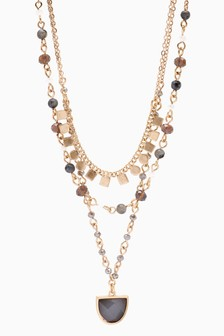 Multi Layer Jewelled Necklace