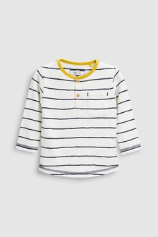 Long Sleeve Stripe Grandad Top (3mths-6yrs)