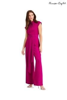 Phase Eight Purple Bree Twist Jumpsuit