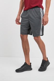 adidas Spirit Black 4K 3 Stripe Shorts