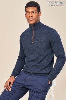 Ralph Lauren Polo Golf Winter Navy Heather Half Zip