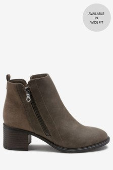 4a64325fd72 Grey · Brown · Black · Navy · Taupe · Ankle Zip Boots