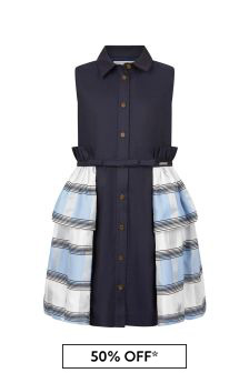 Girls Navy Roma Dress