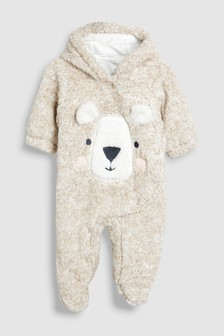 Bear Fleece All-In-One (0-18mths)