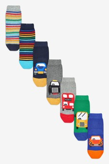 7 Pack Cotton Rich Socks (Younger)
