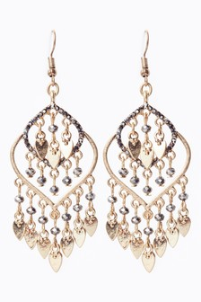 Jewelled Detail Drop Earrings