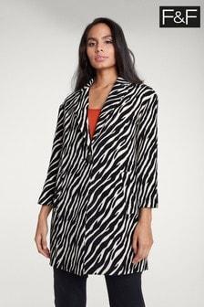 F&F Multi Zebra Formal Coat