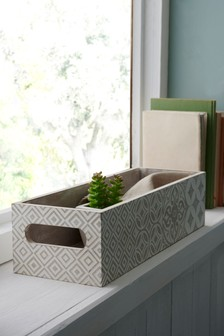 Tile Print Tray Storage Box