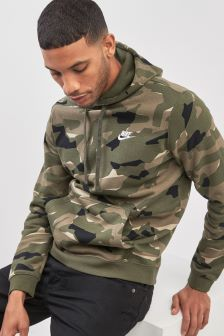Nike Green Club Camo Hoody