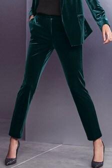 Velvet Skinny Trousers