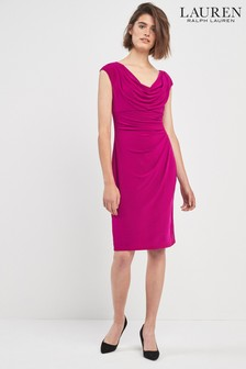 Lauren By Ralph Lauren Pink Valli Cap Sleeve Dress