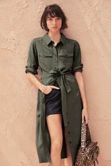 856112569317 Soft Utility Shirt Dress